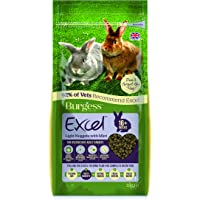 Burgess FP10015C Excel Light Nuggets with Mint Rabbit Food 1 Count 2kg