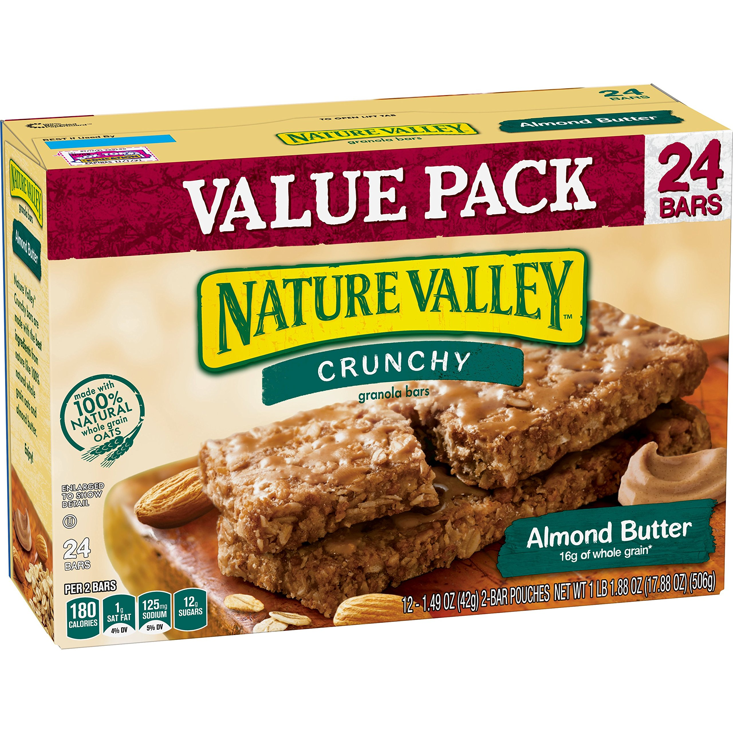 Nature Valley Almond Butter Granola Bars, 17.88 oz