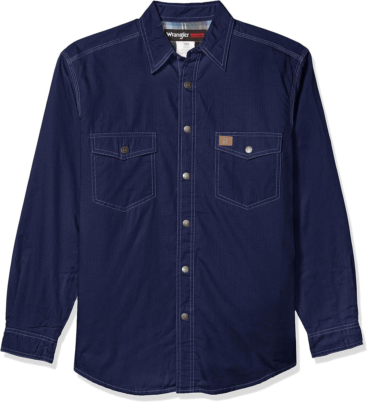 Wrangler Riggs Workwear Camisa Ripstop con forro de franela para hombre
