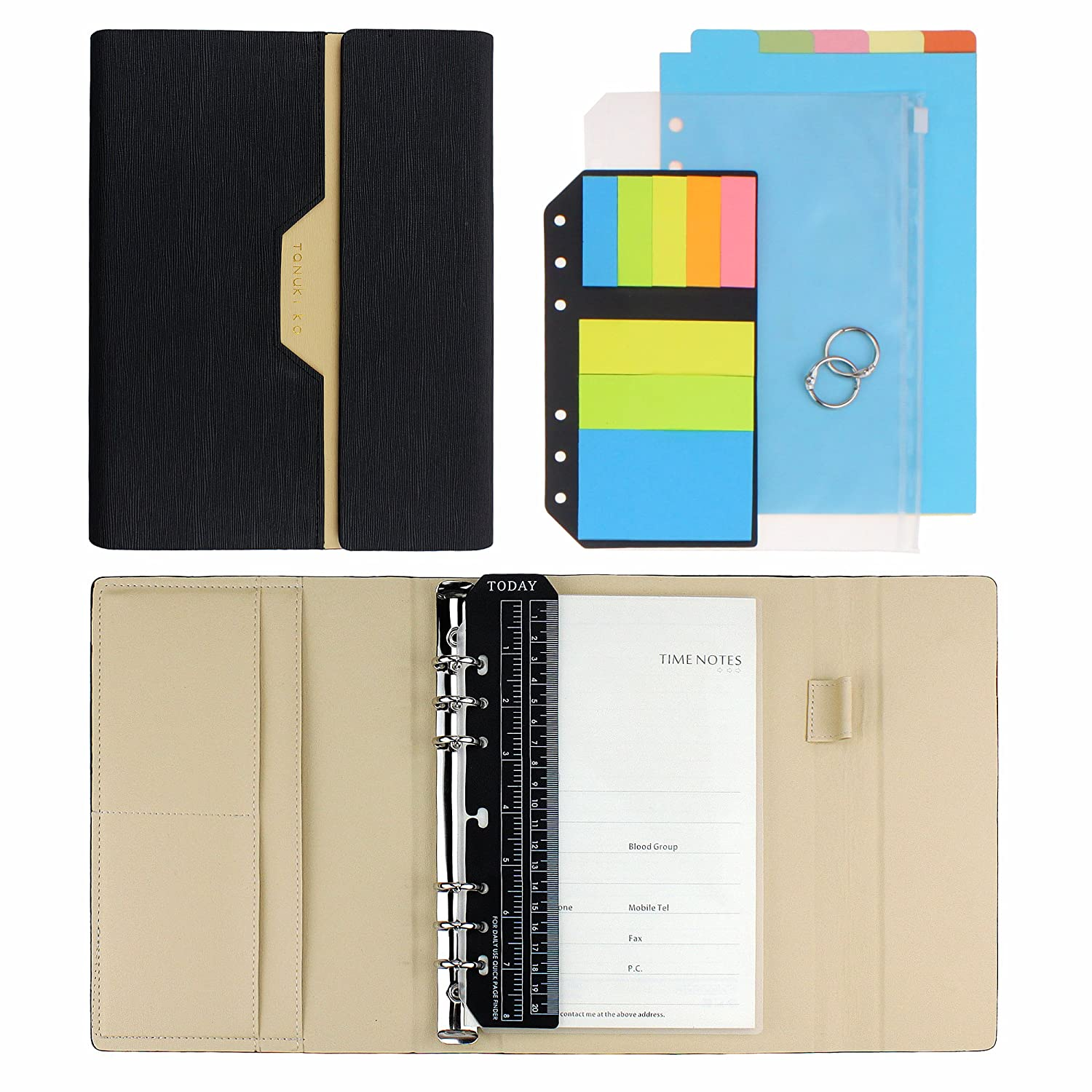 SynLiZy A5 PU Leather Personal Organizer Undated Planner 7.3