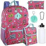 Girls 6 in 1 Backpack Set Including A Backpack, Lunch Bag, Pencil Case,