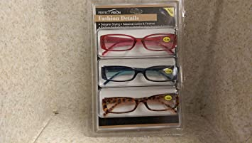 48d4a4caeddb Image Unavailable. Image not available for. Color: Perfect Vision Reading  Glasses - 3 ...