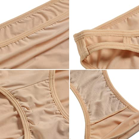 700d872bb Amazon.com  Aimado Bikini Briefs Womens Seemless String Underwear  Microfiber Panties 3 Pack S-XXL  Clothing