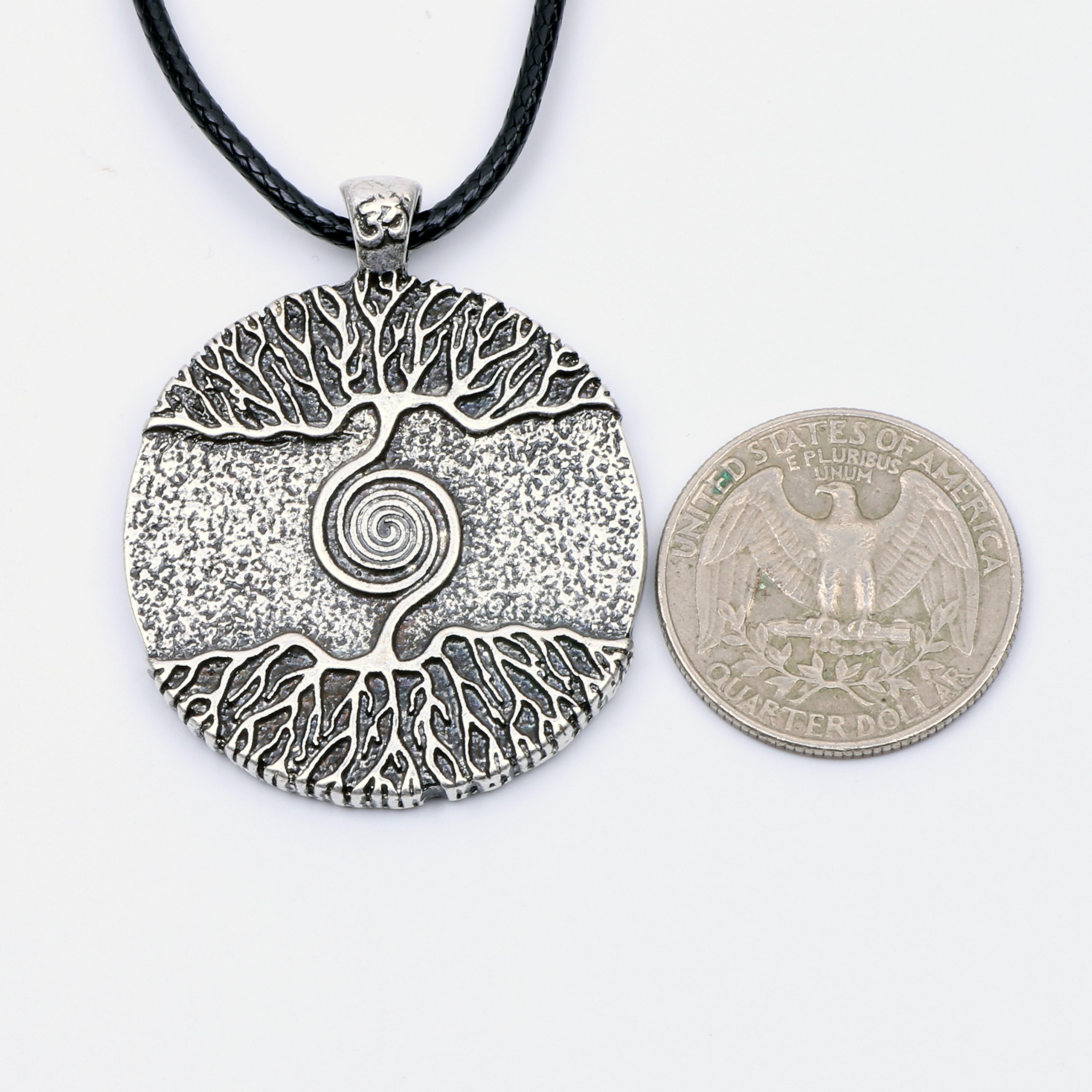 Paw Paw House Yoga Inspired Kybalion Pendant Necklace Amulet Tree of Life Talisma Chi As Above As Below As Within As Without Meditation (4082 Si) (4082) by Paw Paw House (Image #3)