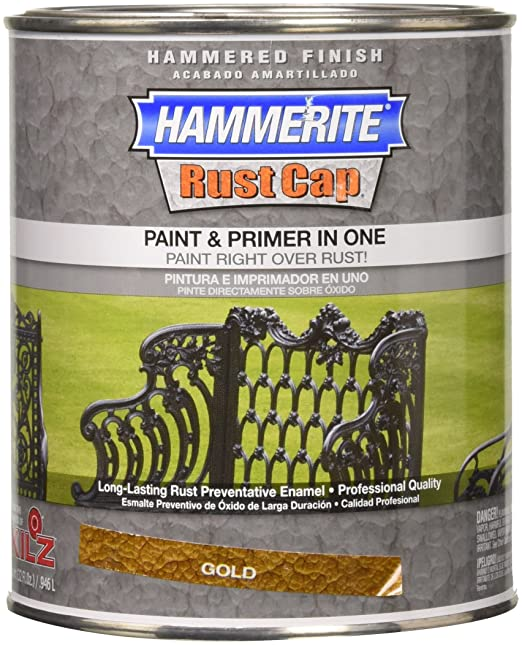 Masterchem 43170 Hammerite Rust Cap Hammered Gold Enamel Paint, Quart - - Amazon.com