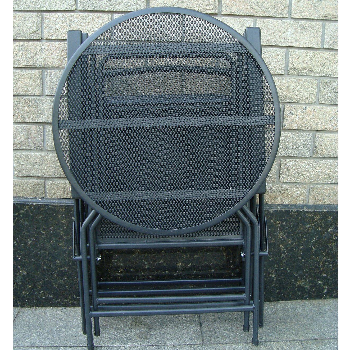 Amazon.com : BenefitUSA S 405 BLK Patio Table And Chair Set, Black : Patio,  Lawn U0026 Garden