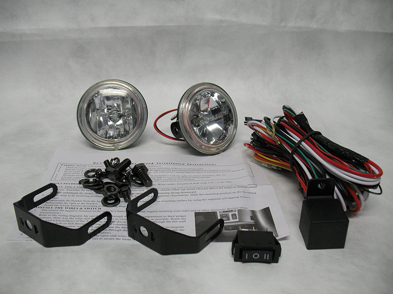 Amazon.com: 2013-2017 Mitsubishi Outlander Non-Halo Fog Lamps Driving Lights  Kit: Automotive