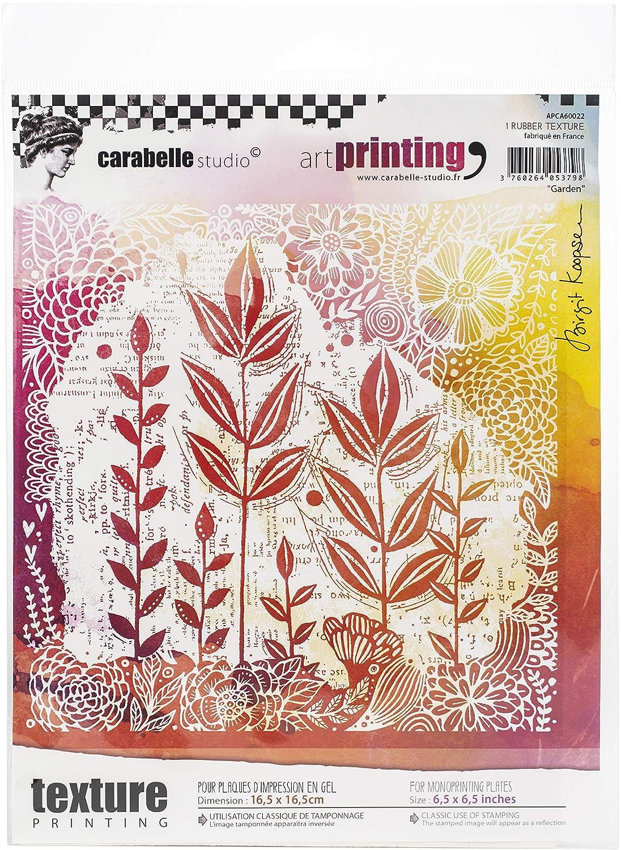 per lastre in gel per monotipo Timbro texture rettangolare in gomma della gamma Art Printing di Carabelle Studio giardino