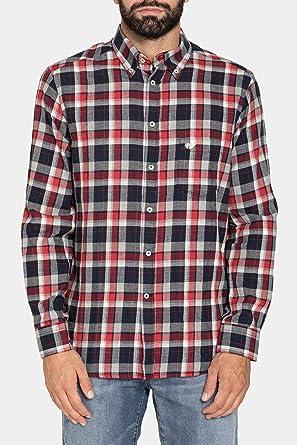 Carrera Jeans - Camisa para Hombre, a Cuadros, Franela Tejido ES XL: Amazon.es: Ropa y accesorios