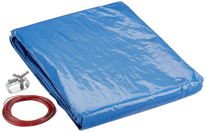 Marimex Abdeckplane für stahl oder frame pool 4,57 m Supreme, blau/schwarz, 457x457x0,1 cm, 10420005