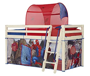 Spiderman Mid Sleeper Tent Pack  sc 1 st  Amazon UK : spiderman bed canopy - memphite.com