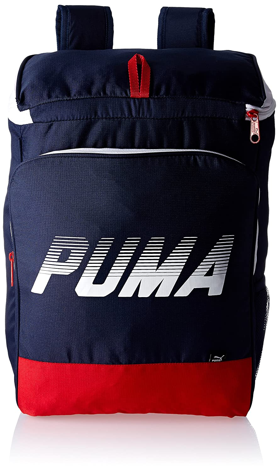 171ef62fffd2 Puma 30 Ltrs Peacoat and Barbados Cherry Casual Backpack (7415602)   Amazon.in  Bags