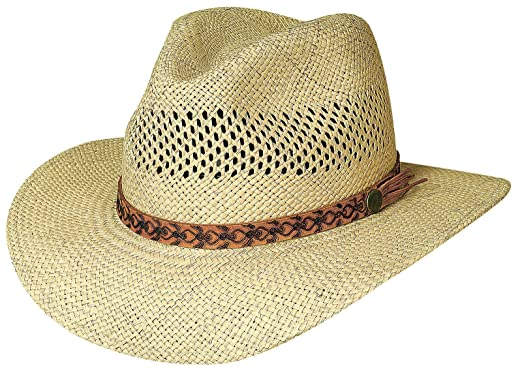 69f4638e26a7c Large X-Large  quot Tropical Breeze quot  Panama Straw Vented Aussie Hat