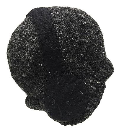 004218718e54a7 Amazon.com : Nepal Hand Knit Sherpa Hat with Ear Flaps, Trapper Ski Heavy  Wool Fleeced Lined Cap (Blue Zig Zag) : Clothing
