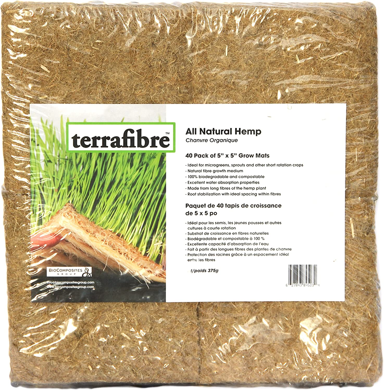"NEW Terrafibre Hemp Fibre Growing Cubes 9 Pack of 1.5/"" inch Cubes Growing Medium"
