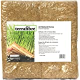 """Terrafibre Hemp Grow Mat - Perfect for Microgreens, Wheatgrass, Sprouts - 40 Pack 5"""" x 5"""" (Fits 5"""" by 5"""" Growing Tray or 8 in a Standard 10"""" X 20"""" Germination Tray) Fully Biodegradable"""