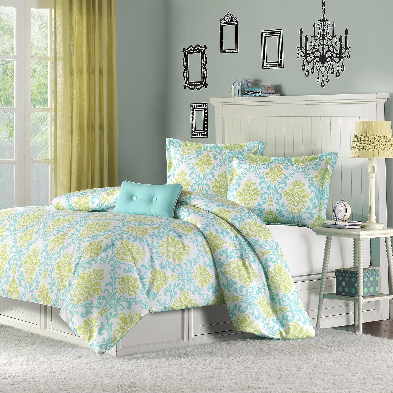 Mizone Katelyn 3 Piece Comforter Set, Twin/Twin X-Large, Teal