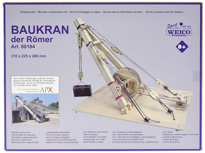 31 x 22,5 x 26 cm Weico Holzbausatz Baukran der Römer ca
