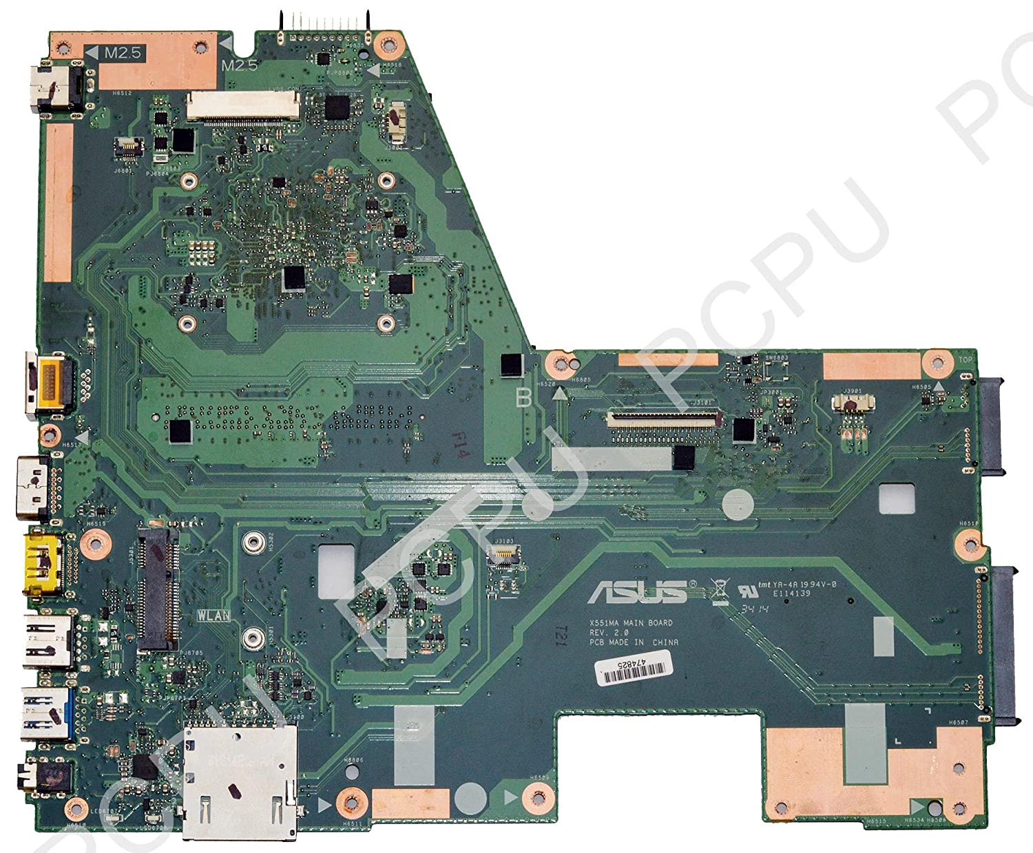 Amazon.com: ASUS 60NB0480-MB2700 Asus X551MA Laptop Motherboard w/ Intel Celeron N2840 2.16Ghz CP 31XJCMB01V0 | Asus X551MA 60NB0480-MB2700 Motherboard: ...