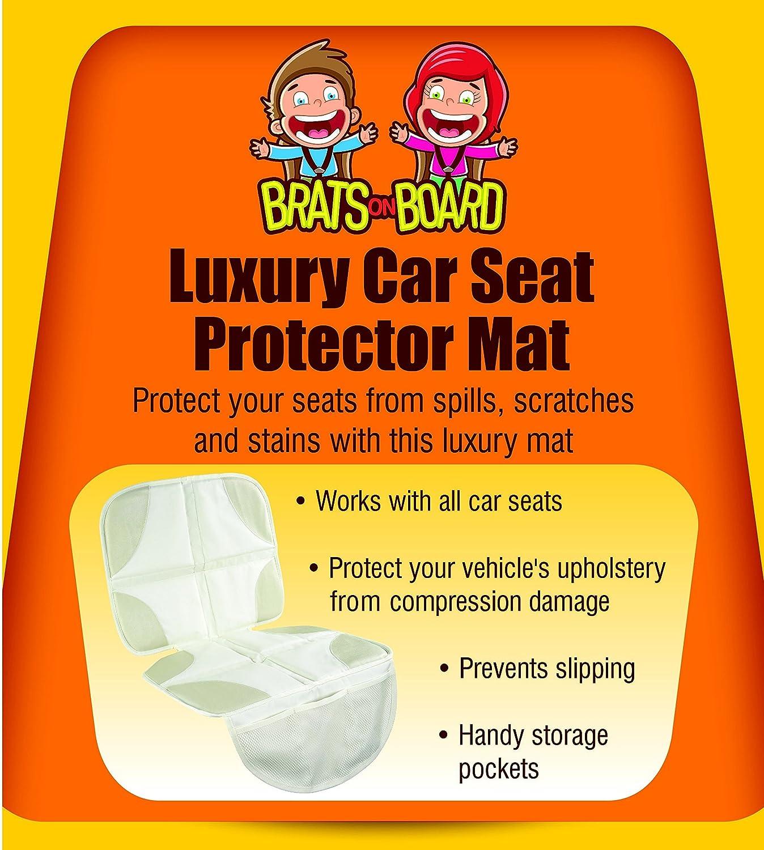 Amazon.com: Beige Asiento de coche protector de ...