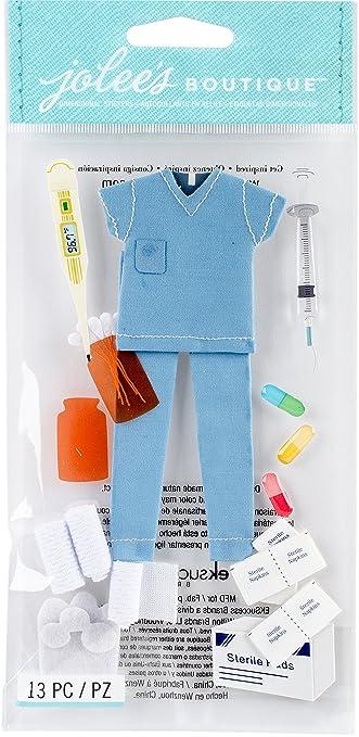 EK Success Jolees Boutique Dimensional Stickers Nurse