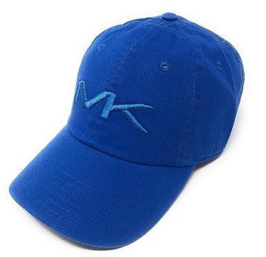 d80a3eb1e0 Michael Kors Mens Adjustable Strapback Cap Baseball Hat (Sea Blue ...