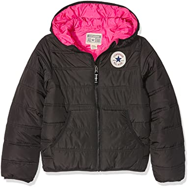 9a37a8582f1c51 Converse Girl s Hooded Polyfill Jacket
