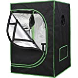 """JungleA Hydroponic Grow Tent Kit with Observation Window and Floor Tray for Home Plant Growing (24"""" x 24"""" x 36"""")"""