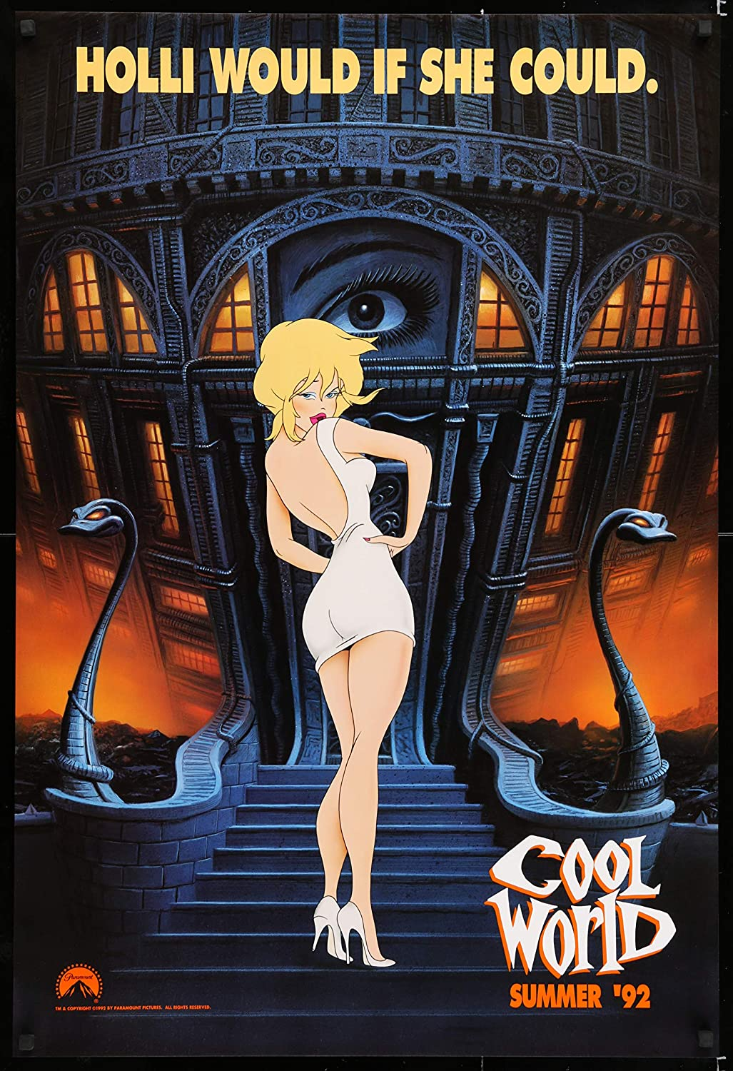 Cool World Theatrical Movie Poster 1992 Ralph Bakshi At Amazon S Entertainment Collectibles Store