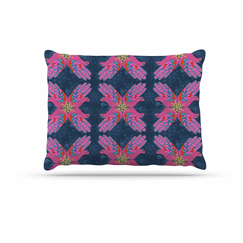 KESS InHouse Jane Smith Om, Sweet, Om Pink Ethnic Dog Bed, 50  x 40