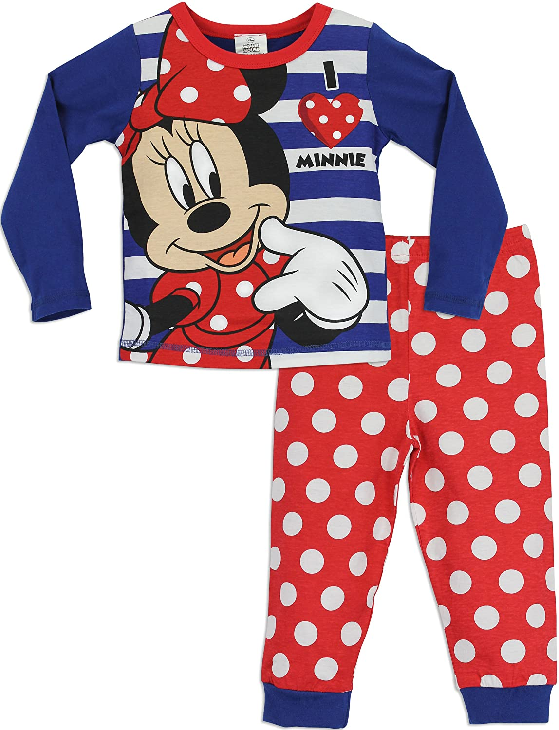Disney Girls Minnie Mouse Pyjamas Ages 18 Months to 10 Years: Amazon ...