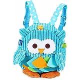 Toddler Mini Backpack for Girls Boys Cute 3D Animal Cartoon Children Preschool Owl Backpack Plush Bag for Kids