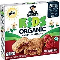 Quaker Kids Organic Whole Grain Bars, Strawberry, 5 - 1.05oz Bars