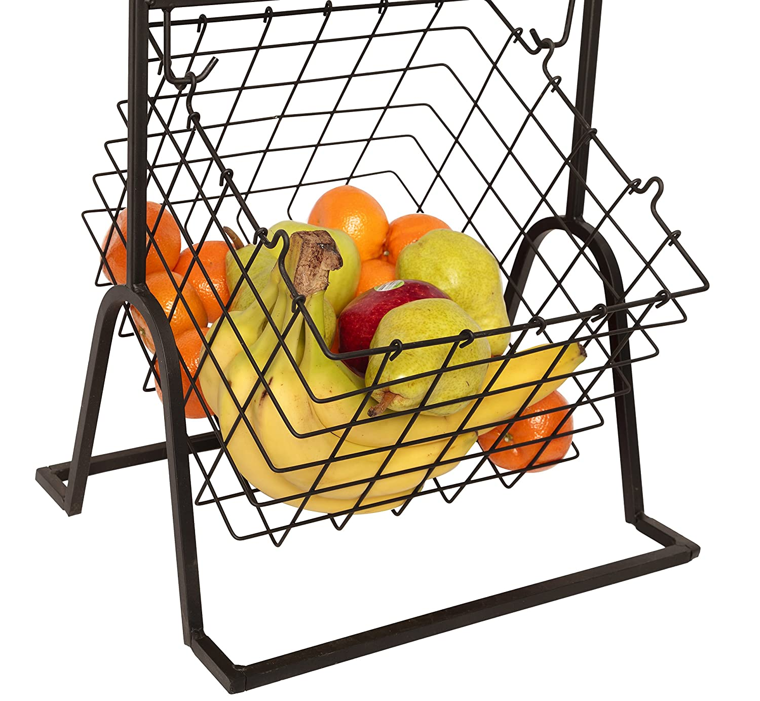 Amazon.com - JMiles UH-MB263 Three Tier Market Basket for Fruits and ...