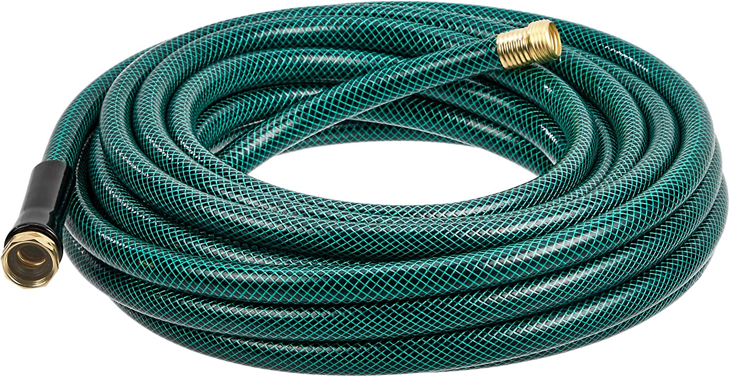 Amazon Basics Garden Tool Collection - Water hose with Brass Coupling 50ft, 5/8'', 300psi