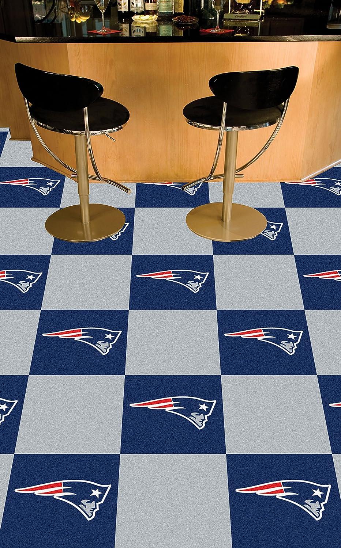 FANMATS NFL New England Patriots Nylon Face Team Carpet Tiles