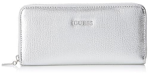 GUESS - Slg Wallet, Carteras Mujer, Plateado (Silver), 2x10x20 cm (