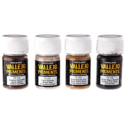 Vallejo Dust & Dirt Pigment Set, 4x35ml: Toys & Games