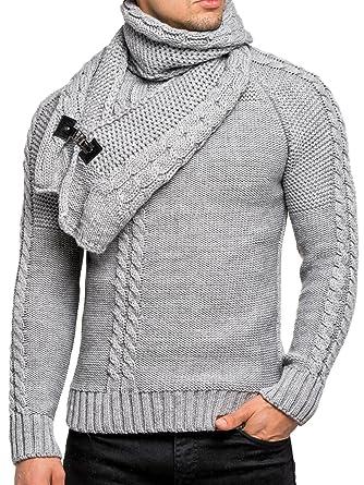 Tazzio Pullover Herren Strickpullover Winter Strick Strickjacke Longsleeve  Clubwear Langarm Shirt Sweatshirt Hemd Pulli Kosmo Japan 992a8afab4