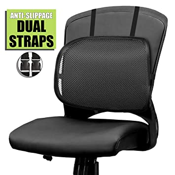Excellent Easy Posture Lumbar Back Support Mesh Black Mesh 1Pc Creativecarmelina Interior Chair Design Creativecarmelinacom