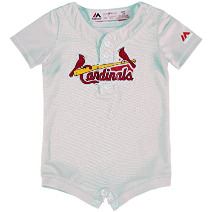 on sale 37d7b 260b2 Majestic St. Louis Cardinals White Home Cool Base Romper Jersey