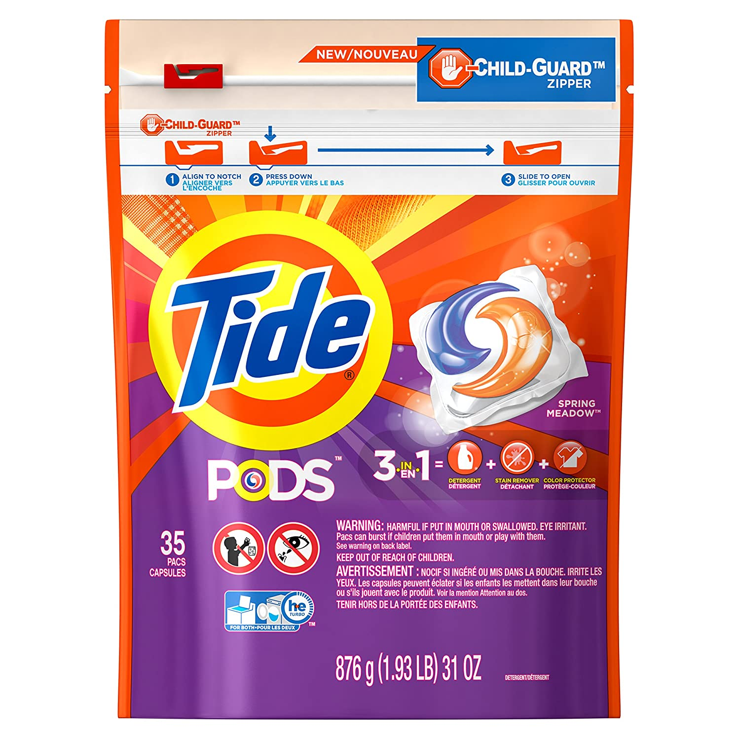 Tide Pods, Spring Meadow, 35 Count Pack TIDE LQ PODS SM 4/35 CT