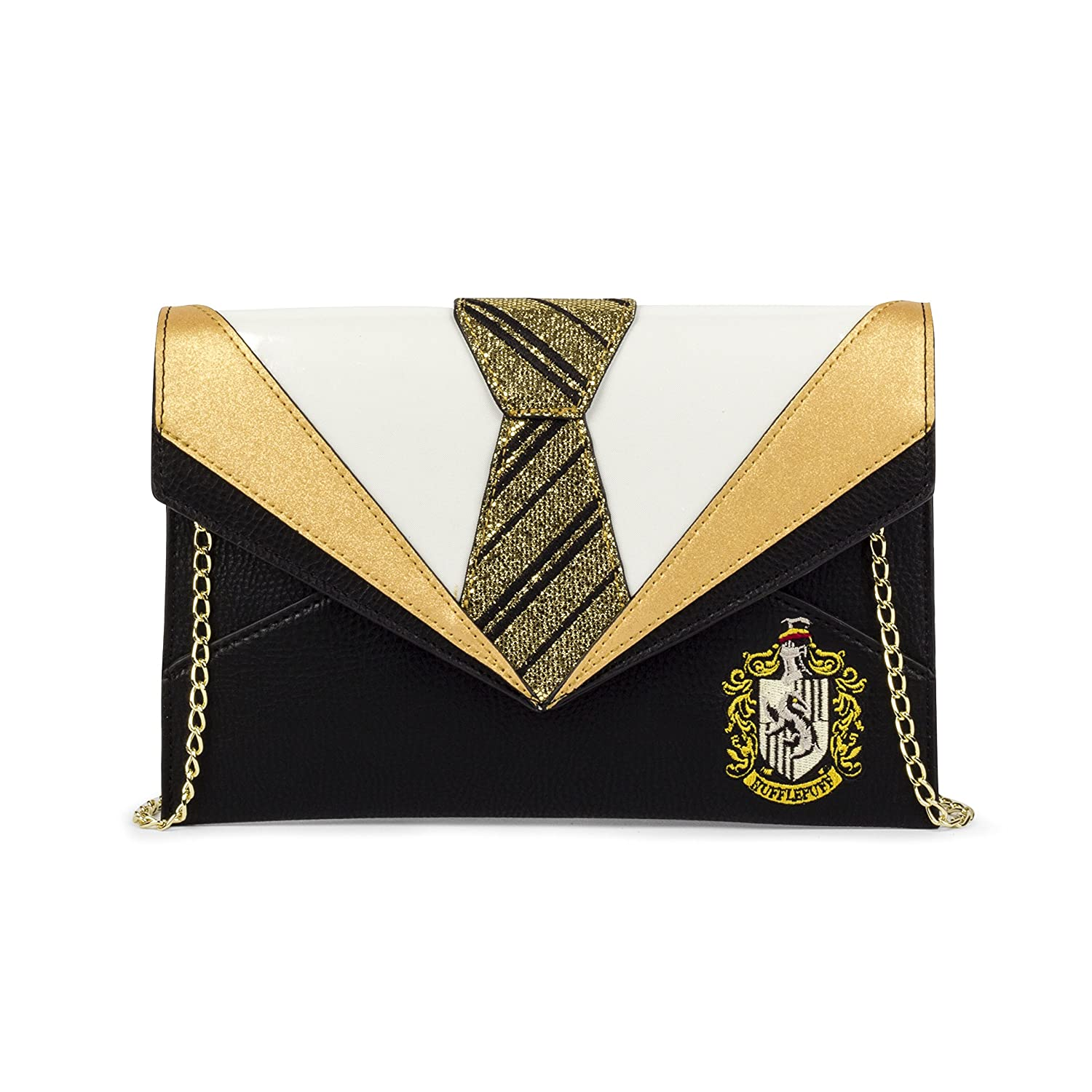 Danielle Nicole Harry Potter Huff Gold and Black Tie Uniform Clutch Bag DNHG