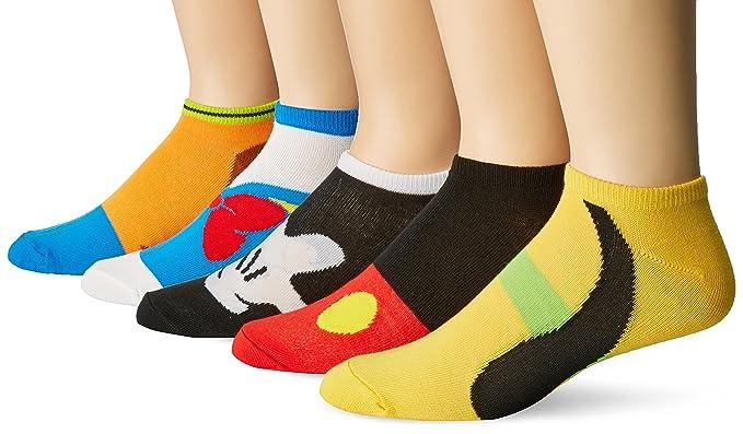 9a1327f3fa458 Disney Men's Classic 5 Pack No Show Socks