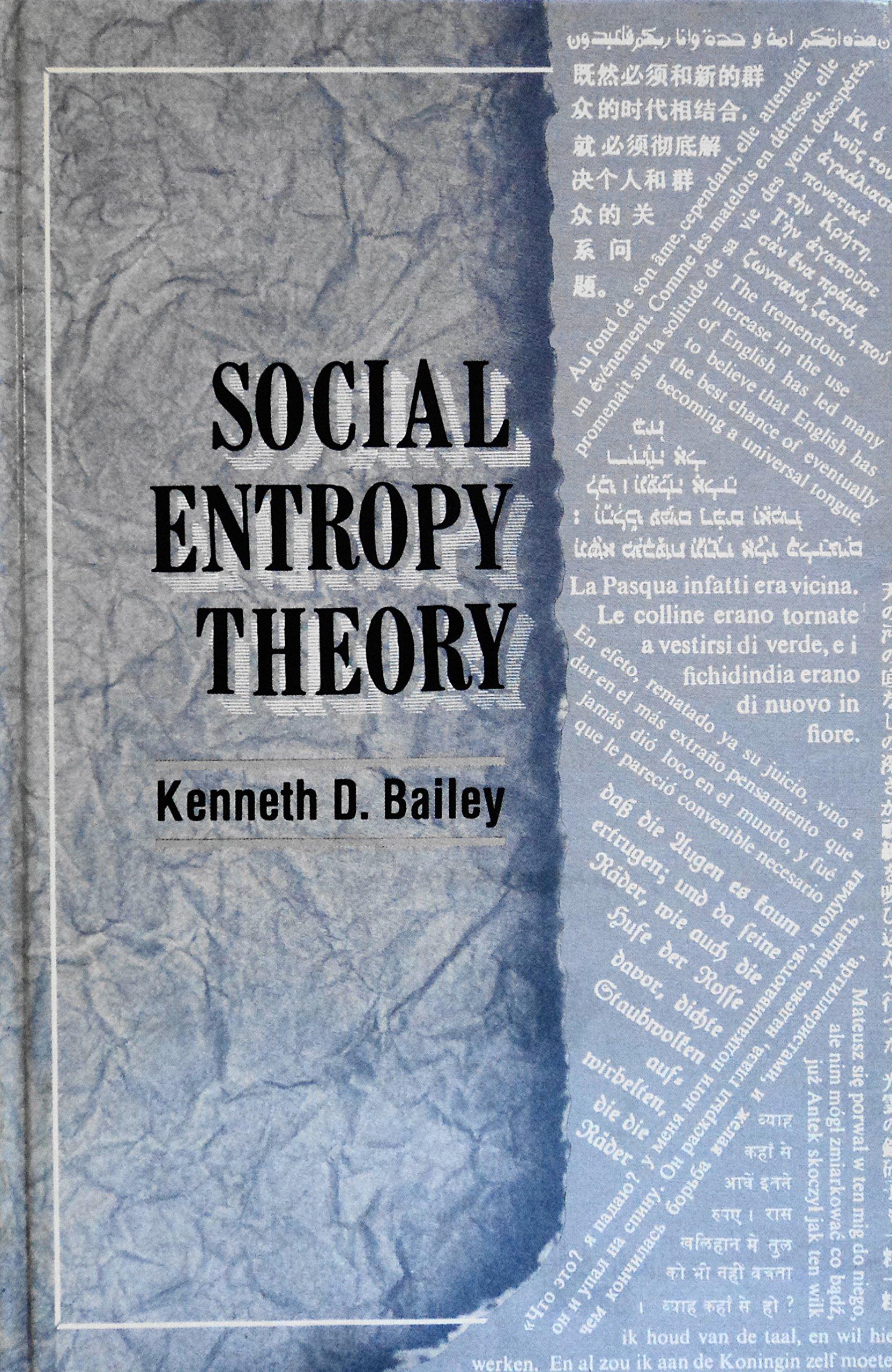 Social Entropy Theory: Kenneth D Bailey: 9780791400562: Amazon: Books