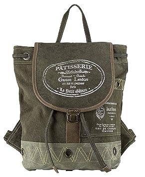 3bc720e01a4a7 Sunsa Damen Herren Vintage Tasche Rucksack Schultertasche Ranzen aus Canvas    Segeltuch mit Leder