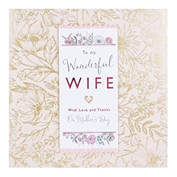 hallmark wife mother s day card love and thanks large amazon co