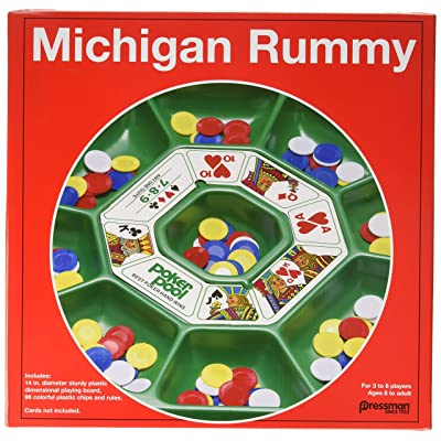 Pressman Michigan Rummy The Perfect Blend of Rummy and Poker for an Entirely New Game Experience: Toys & Games