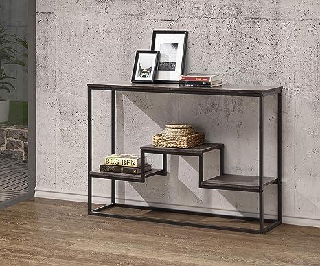 Amazon.com: Mesa de sofá con acabado gris envejecido con ...