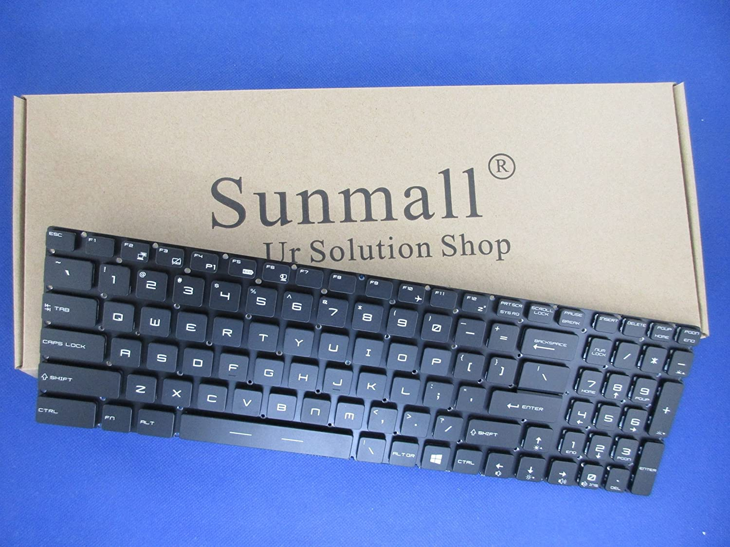 SUNMALL Laptop Replacement Keyboard with Backlight for MSI GE62 GS60 GS70 GS72 GE72 GT72 MS-1772 Series Part Number V143422AK1 19000184 US Layout